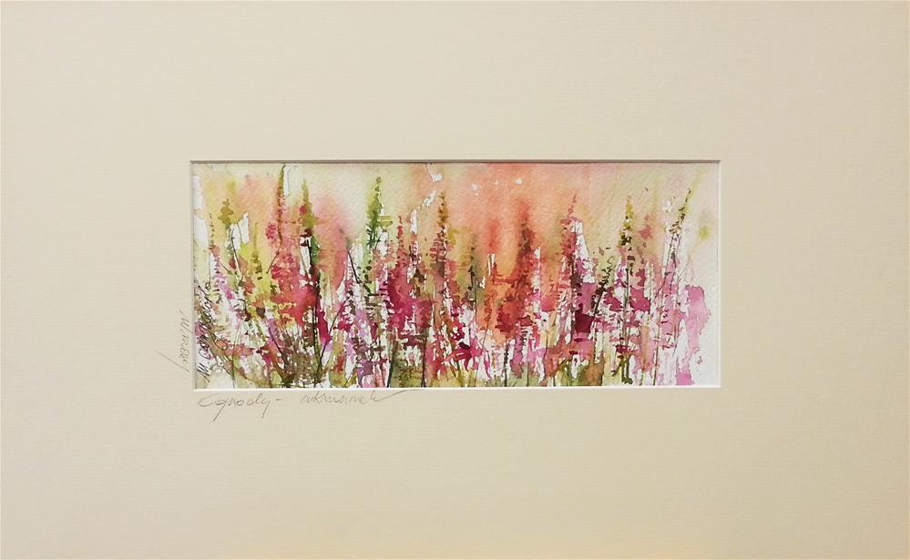 """Heathers"" original fine art by Marlena Czajkowska"