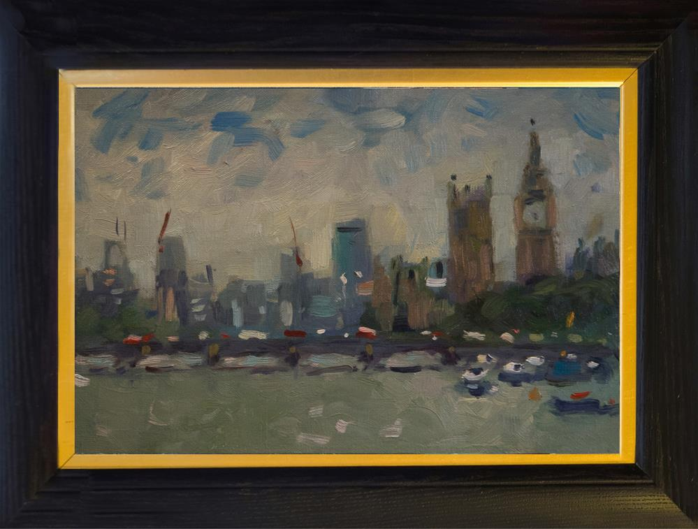 """Houses of Parliament"" original fine art by Andre Pallat"