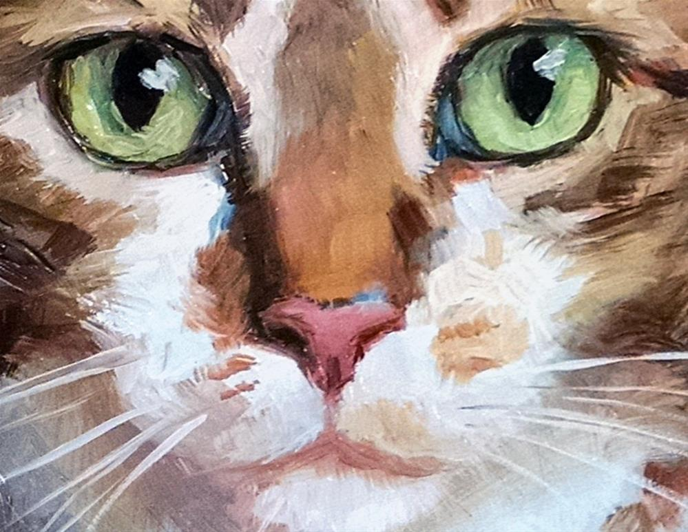 """Sincere Tabby"" original fine art by J. Dunster"