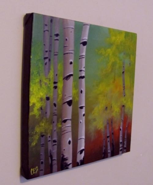 """Red Dawn Birch"" original fine art by ~ces~ Christine E. S. Code"
