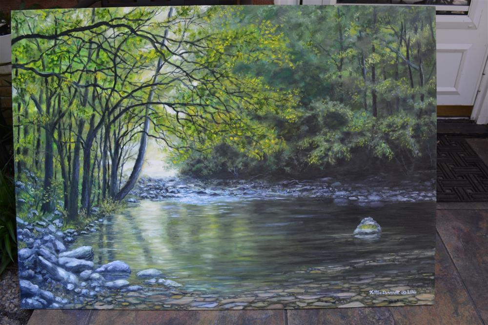 """Mountain Stream Near Gatlinburg TN (C) 2016 by K. McDermott"" original fine art by Kathleen McDermott"