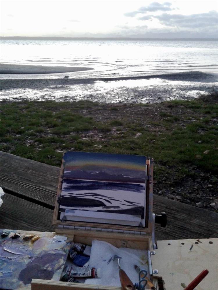 """Puget Sound evening"" original fine art by Jenny Kinberg"