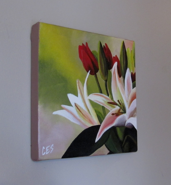 """Tulips and Lillies"" original fine art by ~ces~ Christine E. S. Code"
