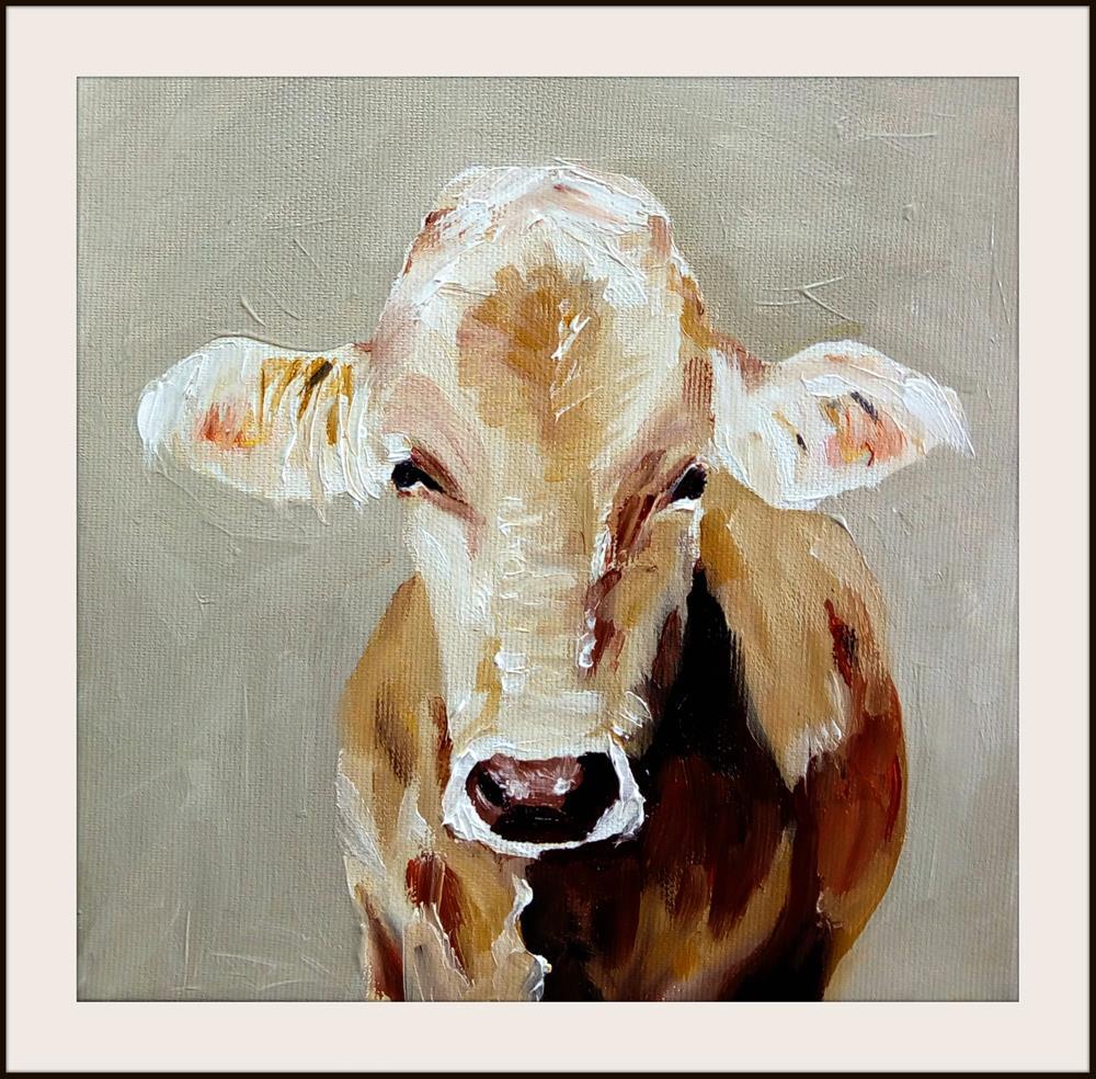 """The Cow"" original fine art by Laura B."