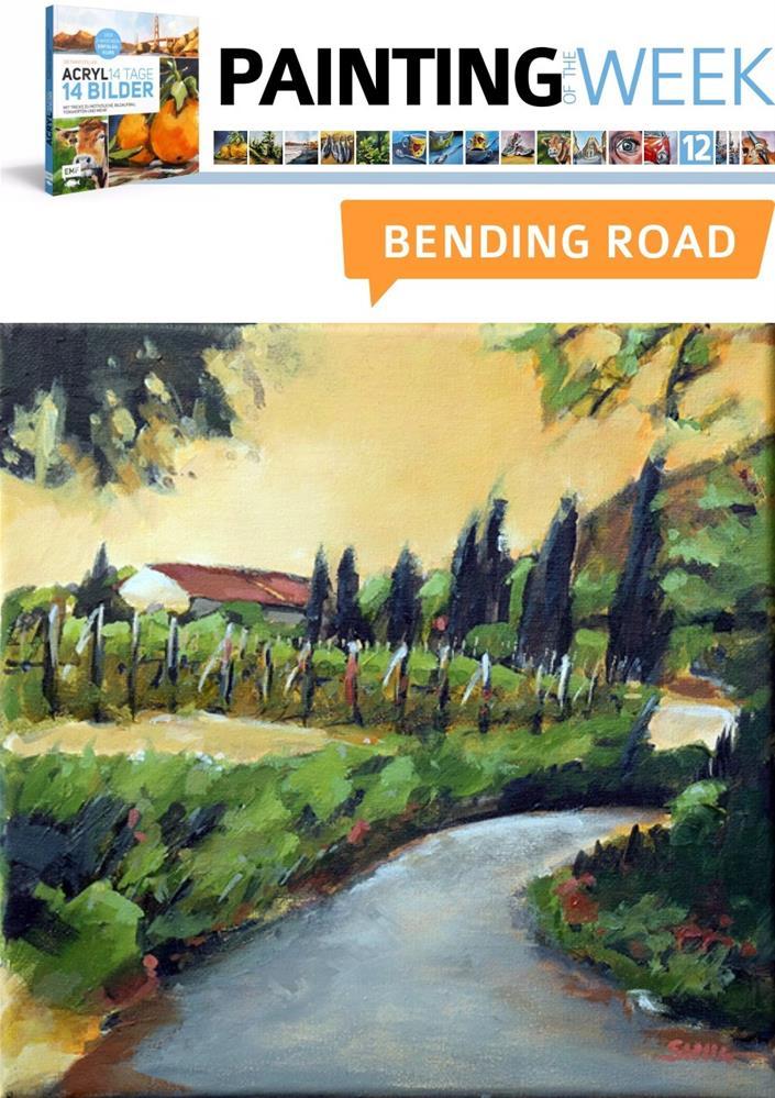 """""""2182 Bending Road (Painting of the week #12)"""" original fine art by Dietmar Stiller"""