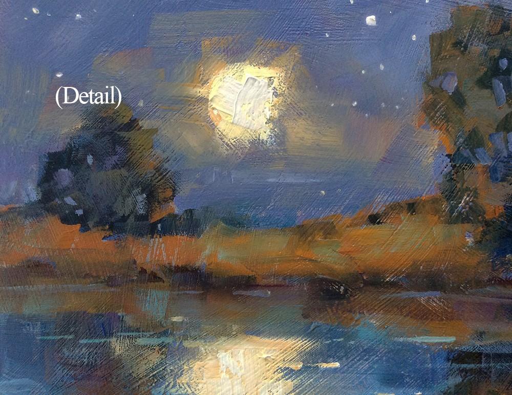 """MAGIC MOONLIGHT"" original fine art by Tom Brown"