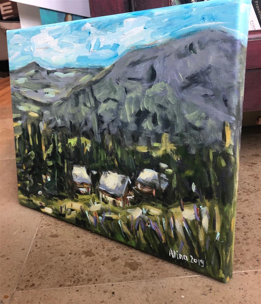 """Transylvanian Village"" original fine art by Alina Vidulescu"
