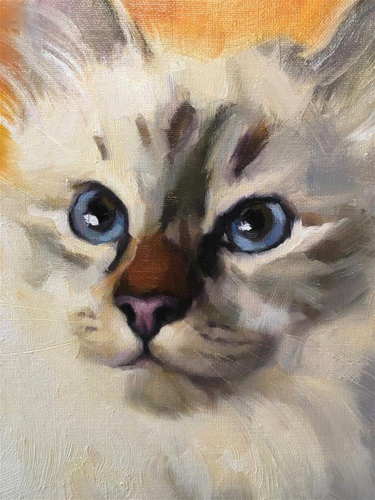 """Adopt353"" original fine art by Katya Minkina"