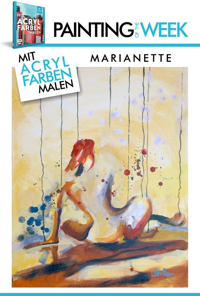 """2238 Marianette (Painting of the week #15)"" original fine art by Dietmar Stiller"