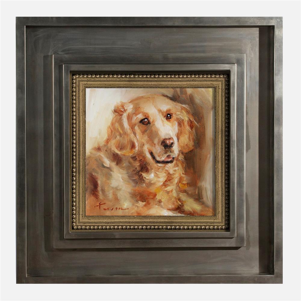 """Golden Retriever"" original fine art by Teresa Yoo"