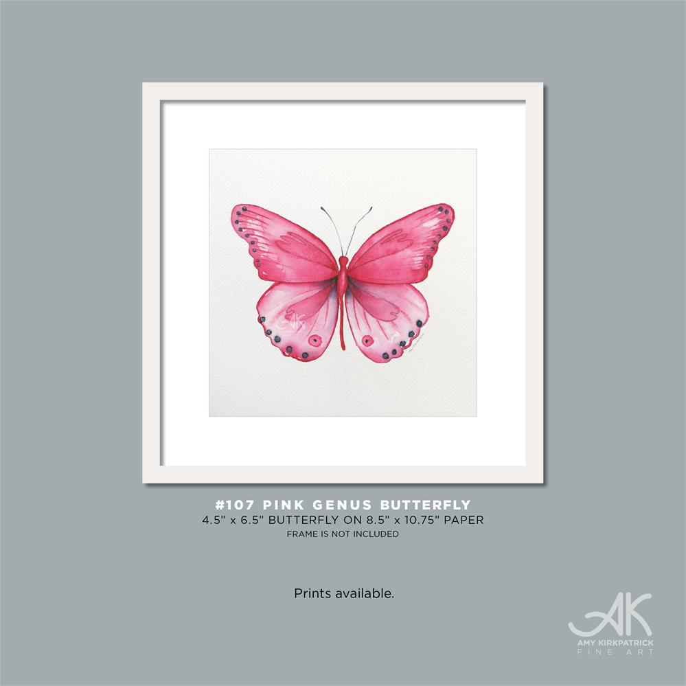 """#107 Pink Genus Butterfly #0578"" original fine art by Amy Kirkpatrick"