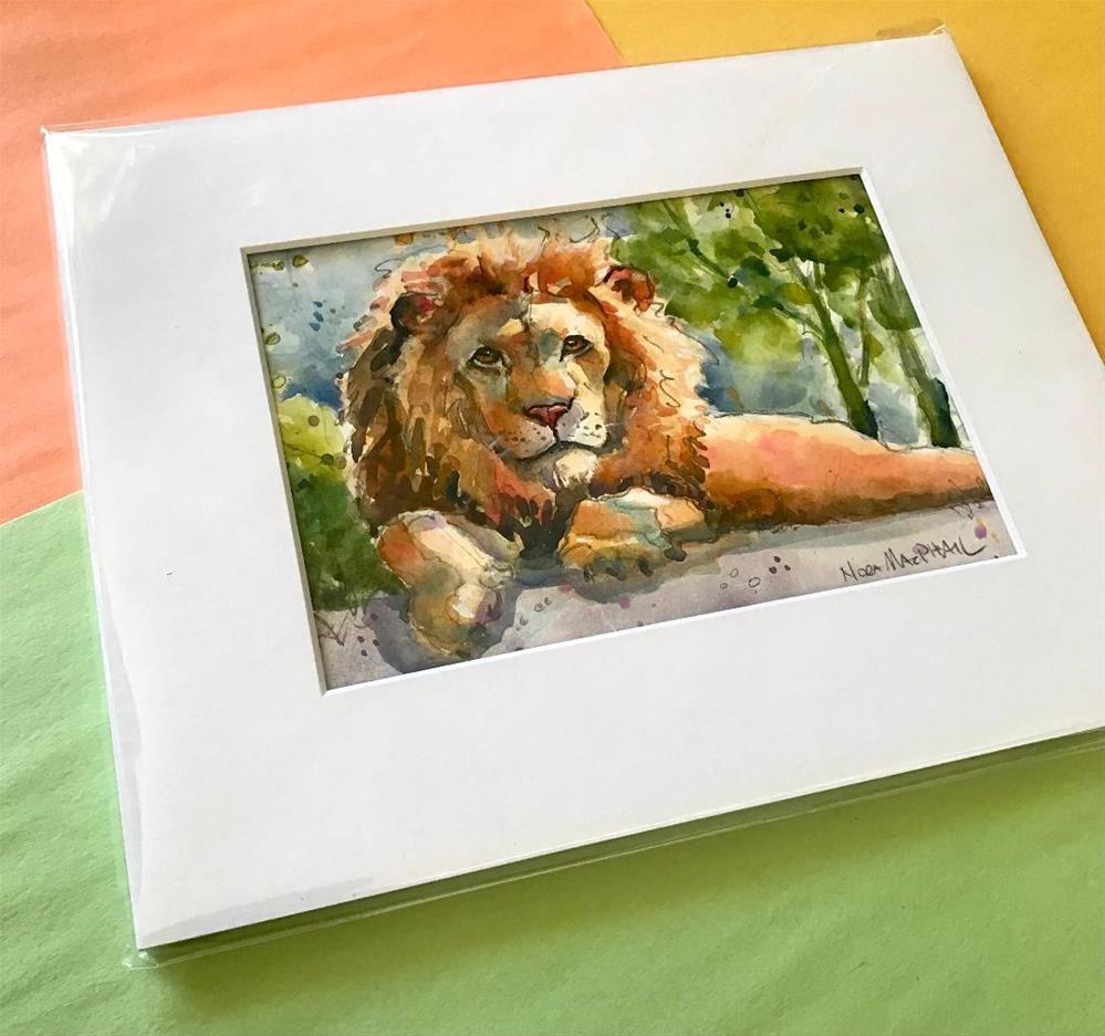 """a lion"" original fine art by Nora MacPhail"