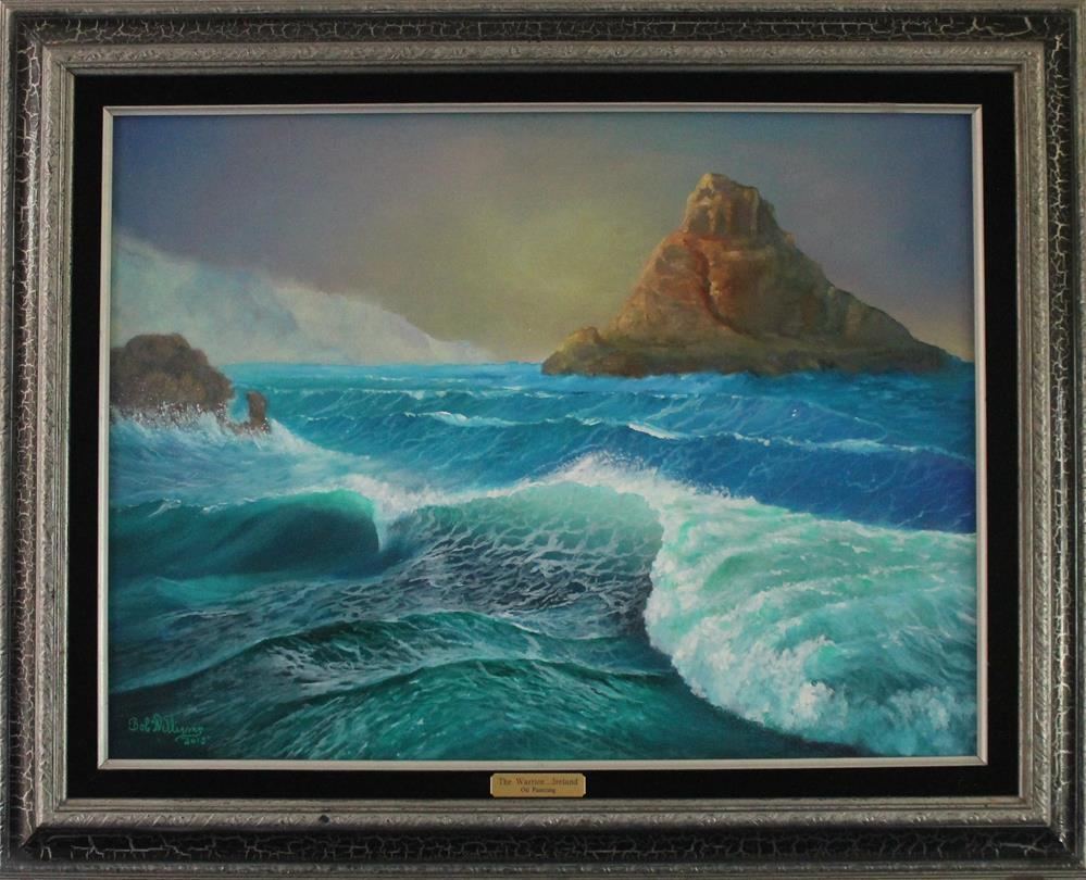 """The Warrior.....Coastal Ireland"" original fine art by Bob Williams"