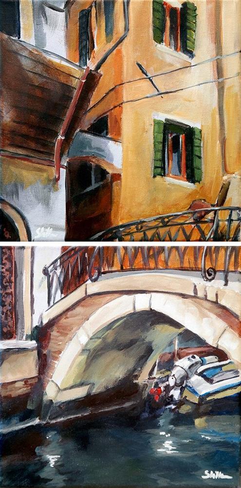 """""""1747 Under the Bridge"""" original fine art by Dietmar Stiller"""