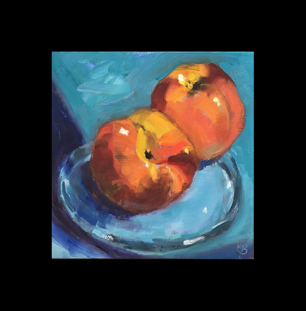 """Peachy Keen!"" original fine art by Victoria  Biedron"