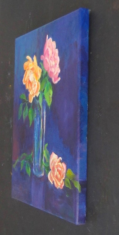 """Winter Roses"" original fine art by Patricia Musgrave"