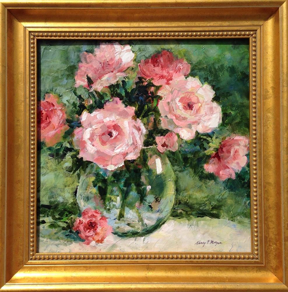 """""""Peonies in the Garden"""" original fine art by Nancy F. Morgan"""