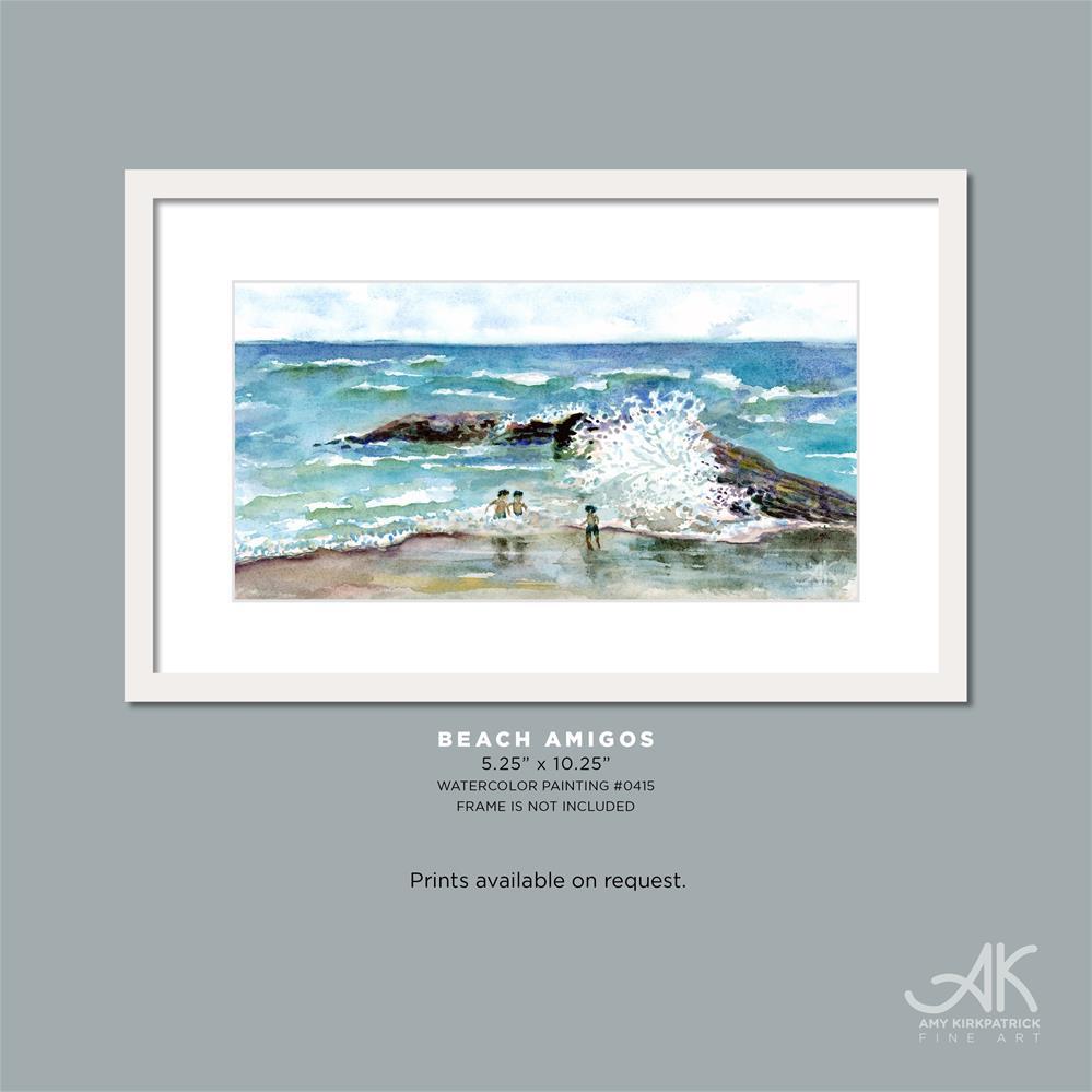 """BEACH AMIGOS #0415"" original fine art by Amy Kirkpatrick"