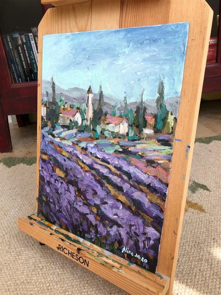 """""""Lavender"""" original fine art by Alina Vidulescu"""