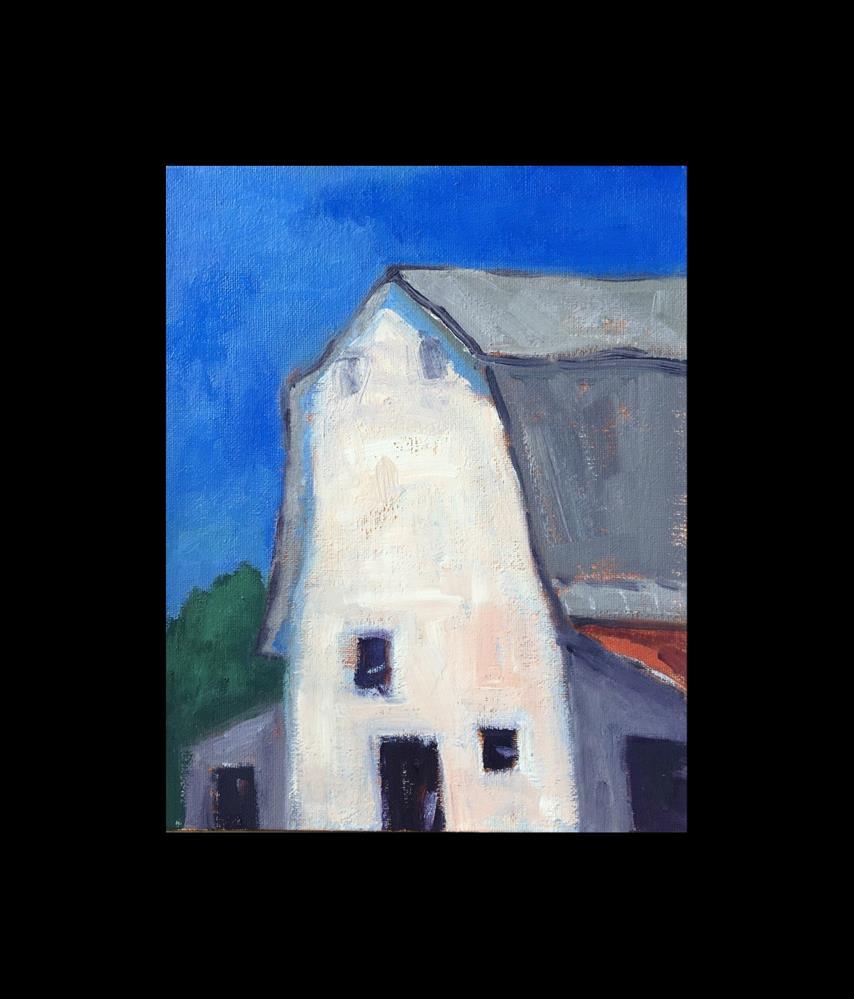 """""""White Barn"""" original fine art by Victoria  Biedron"""