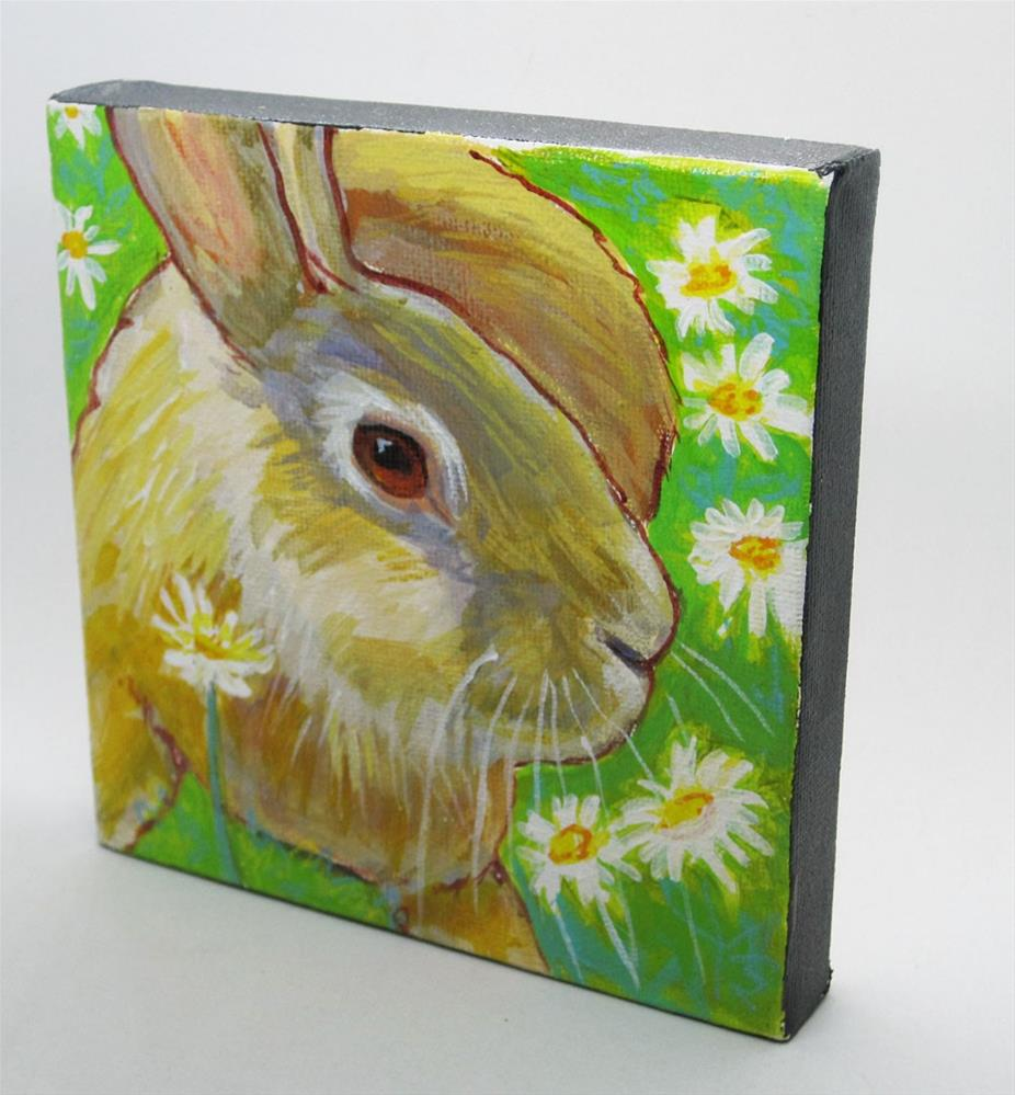 """Daisy Bunny"" original fine art by Rhett Regina Owings"