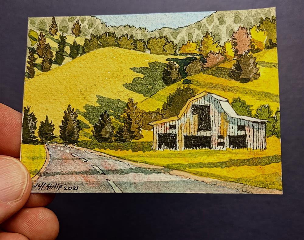 """Road from Lynchburg"" original fine art by Jeff Atnip"