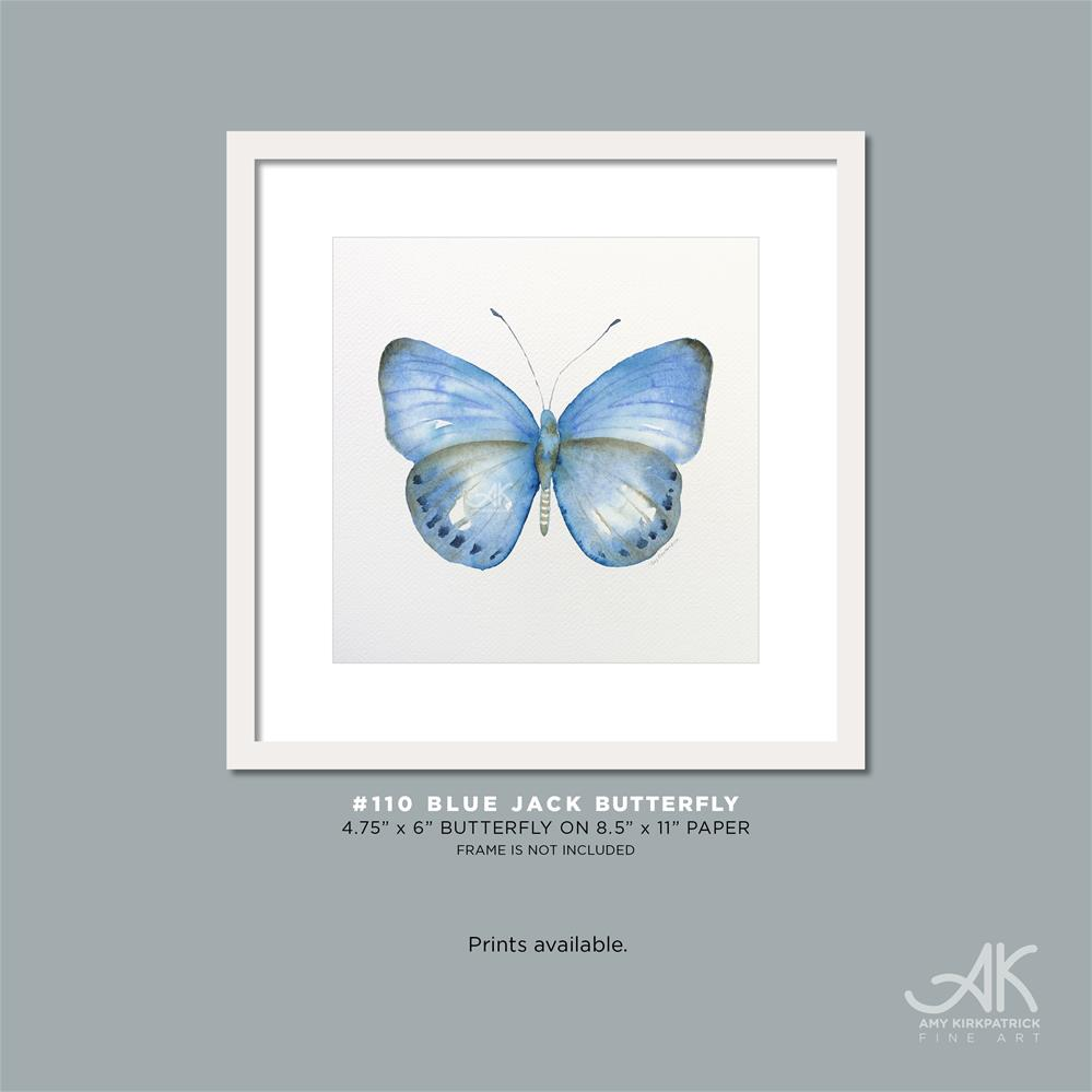 """#110 Blue Jack Butterfly #0583"" original fine art by Amy Kirkpatrick"