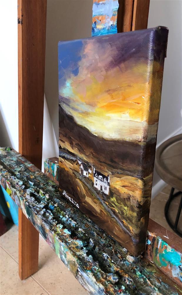"""""""Isle of Skye Sunset"""" original fine art by Alina Vidulescu"""