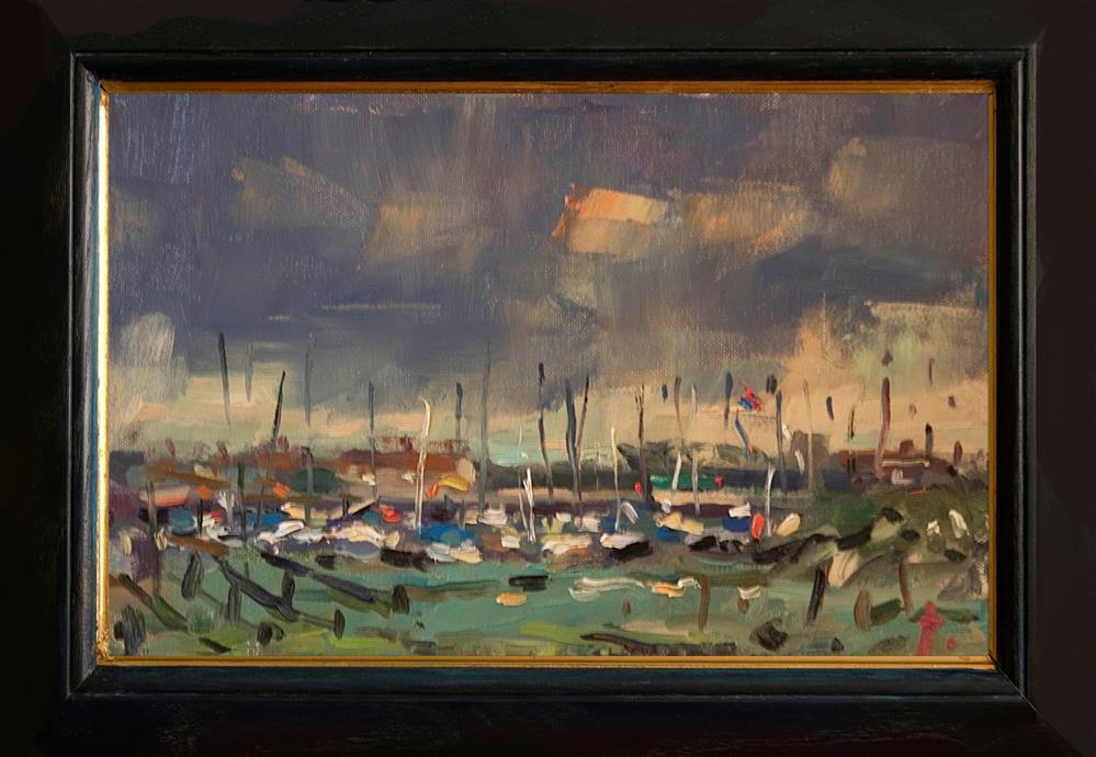 """Yacht Basin near West Beach"" original fine art by Andre Pallat"