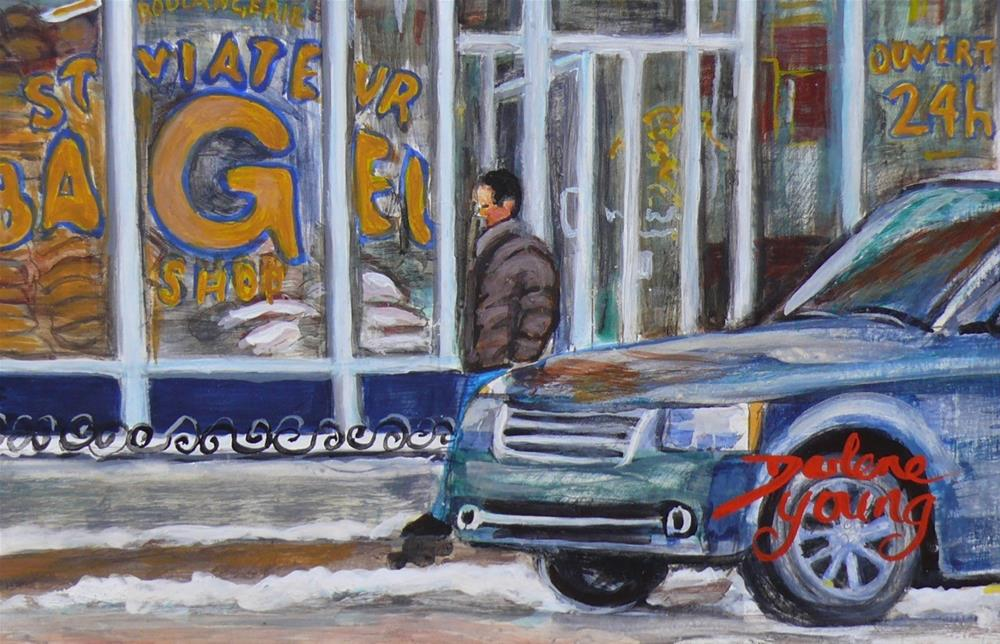 """1162 St-Viateur Bagel"" original fine art by Darlene Young"