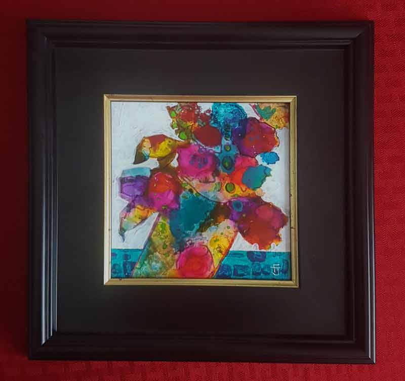 """Funky Flower 4"" original fine art by Francine Dufour~Jones"