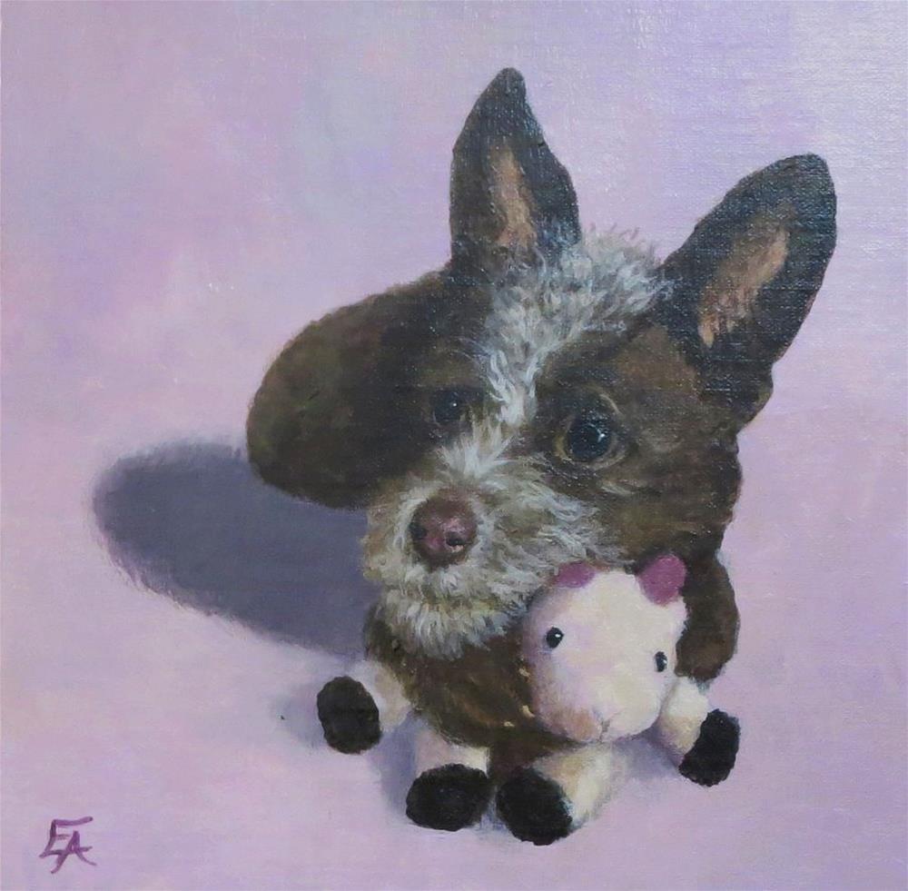 """""""Pet Portrait Commissions"""" original fine art by Elizabeth Elgin"""