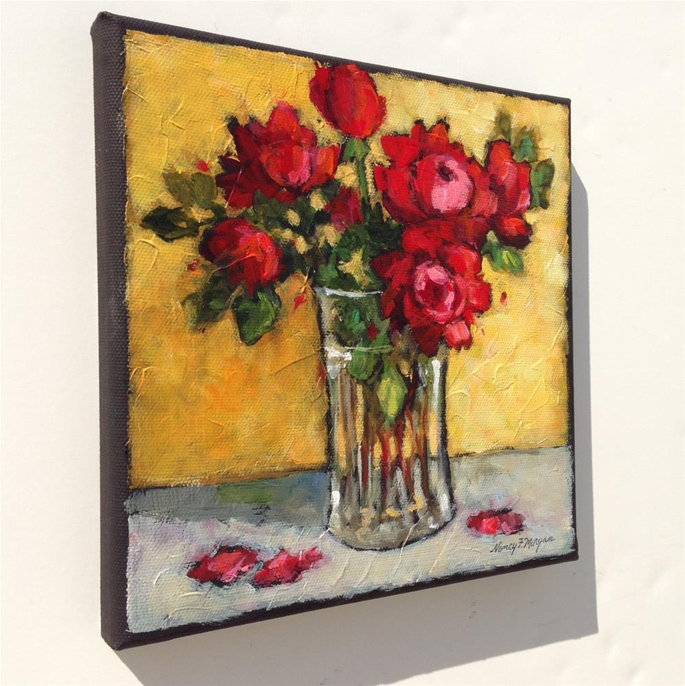 """October Roses"" original fine art by Nancy F. Morgan"