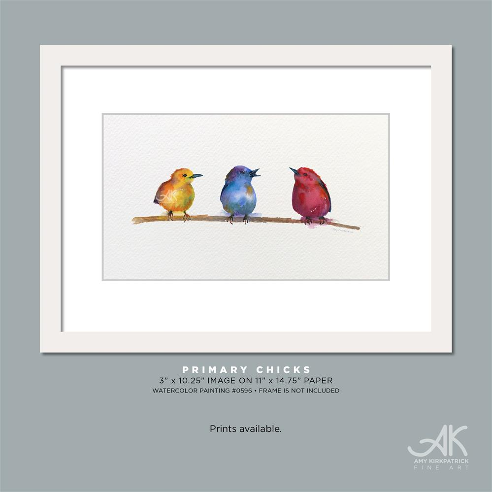 """PRIMARY CHICKS #0734"" original fine art by Amy Kirkpatrick"