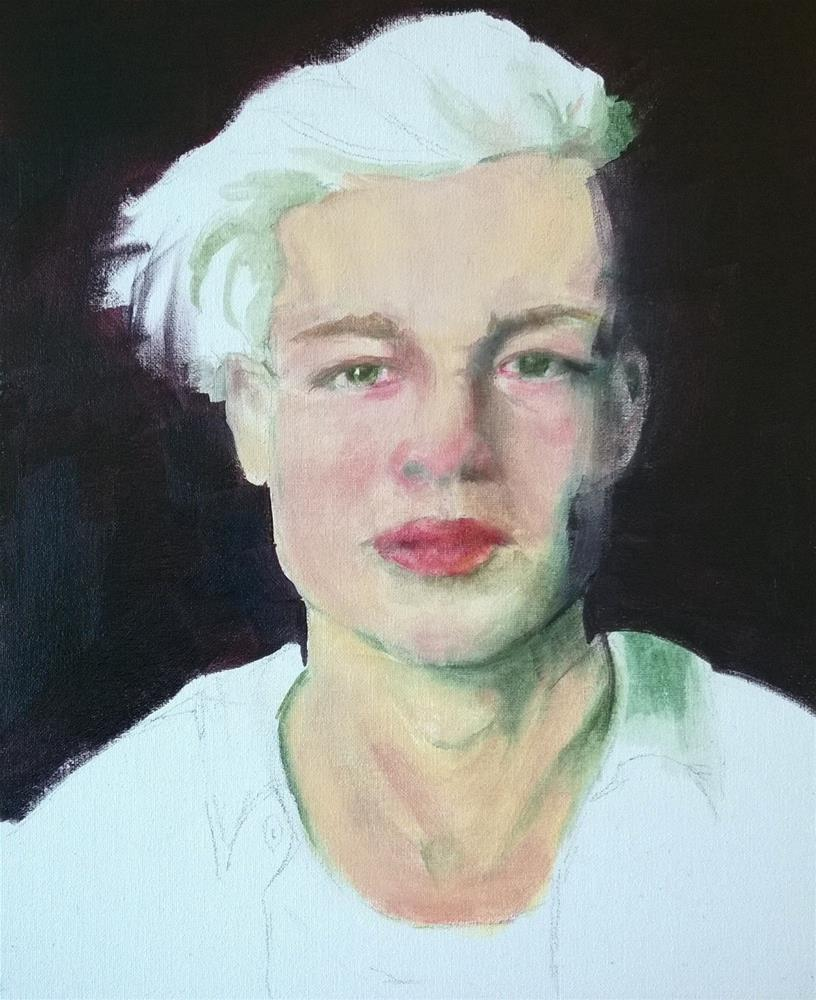 """""""Tearful"""" original fine art by Crisynda Buss"""