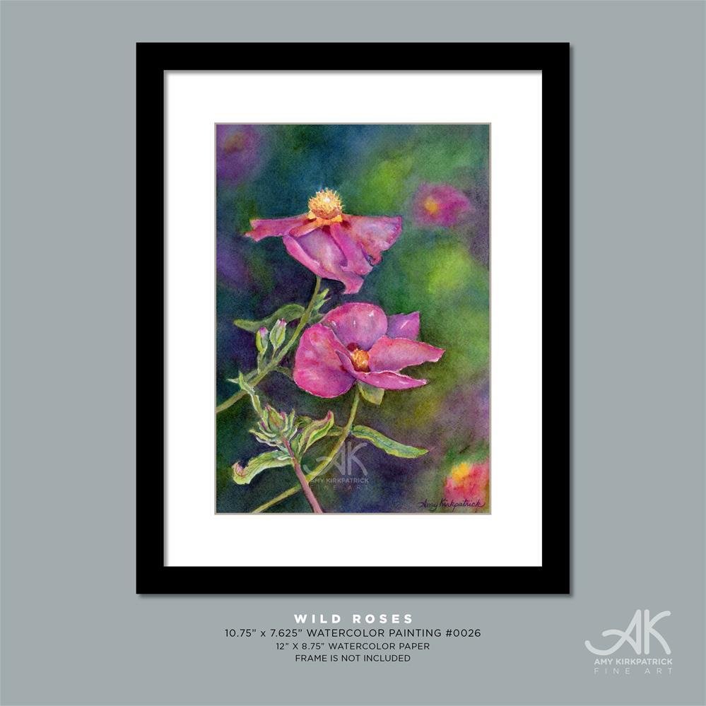 """WILD ROSES #0026"" original fine art by Amy Kirkpatrick"