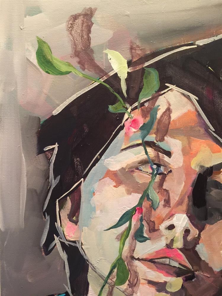 """473 All Over My Heart"" original fine art by Jenny Doh"