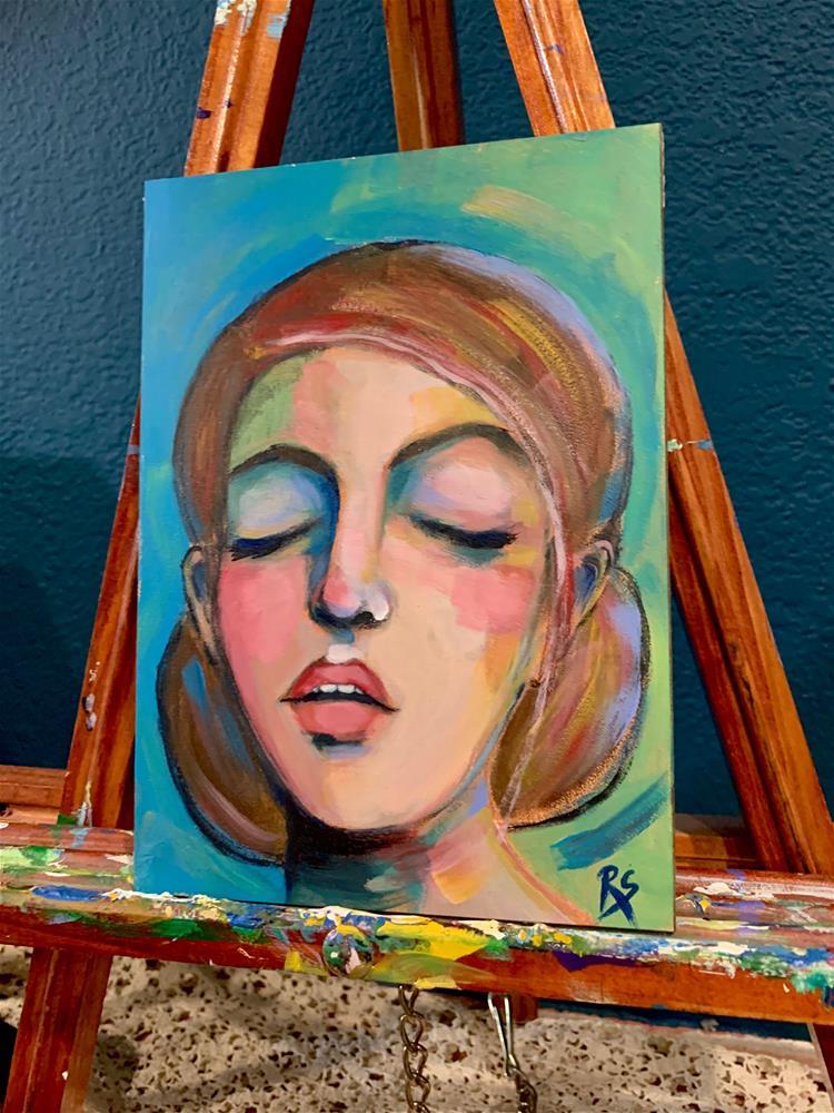 """""""Sleeping Beauty"""" original fine art by Roberta Schmidt ArtcyLucy"""