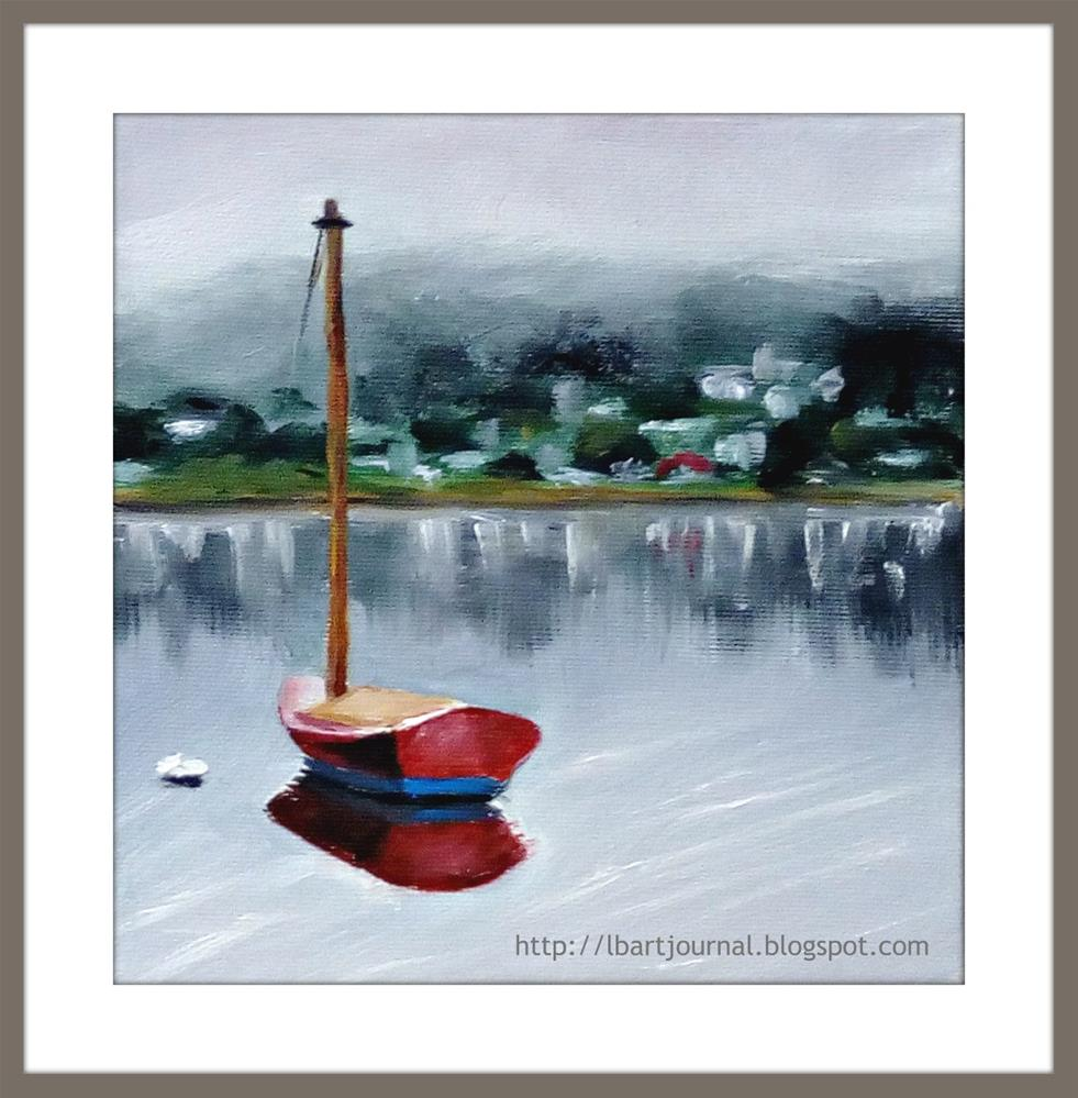 """""""The Red Boat"""" original fine art by Laura B."""
