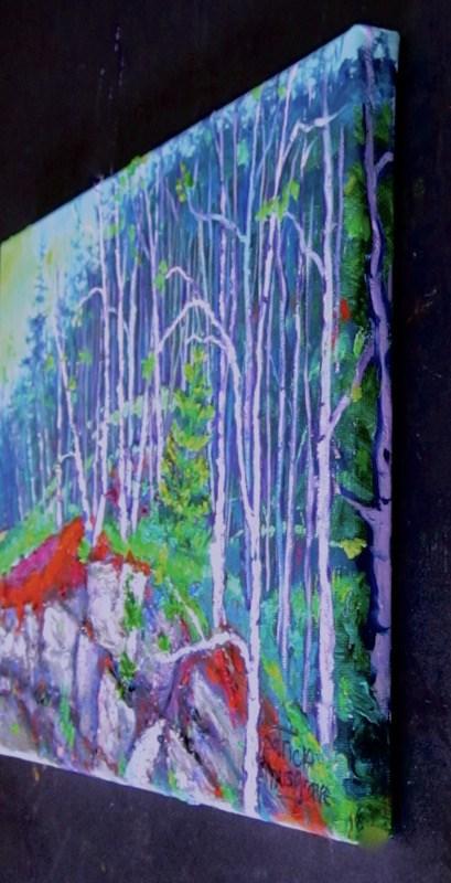 """Roadside Woods"" original fine art by Patricia Musgrave"