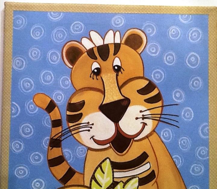 """BABY TIGER"" original fine art by Cindy Zoglmann"