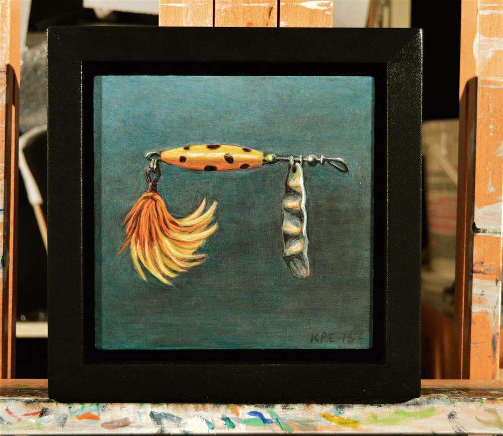 """""""Feather Lure"""" original fine art by Kenneth Cobb"""