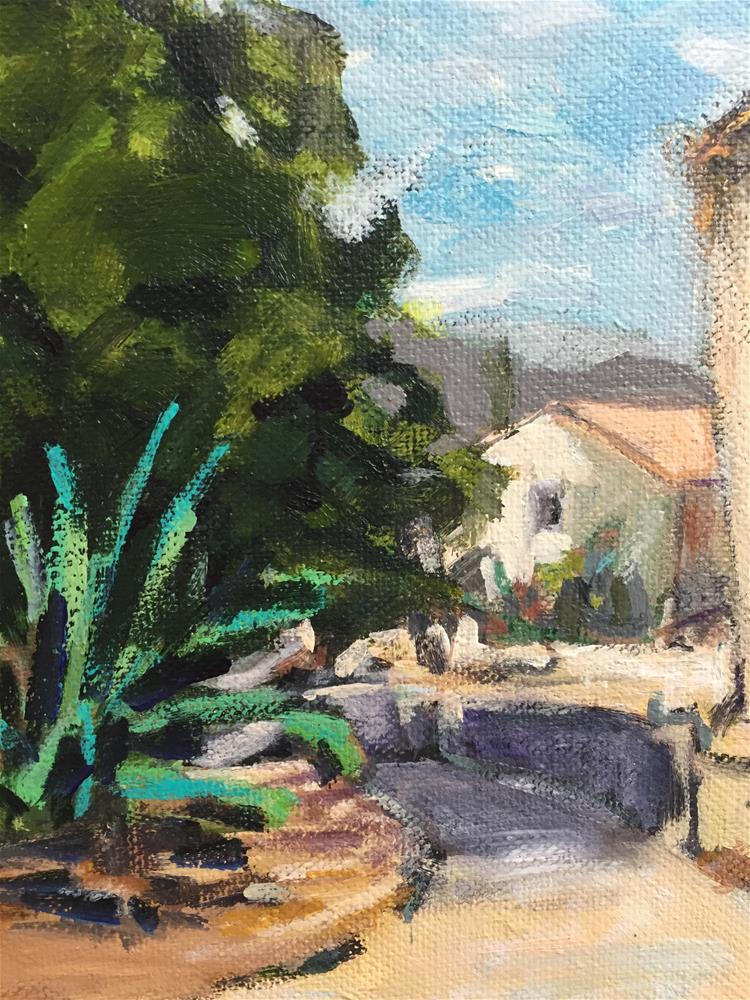 """Village in Provence"" original fine art by Alina Vidulescu"