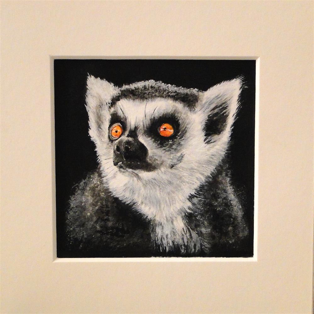 """""""Little lemur"""" original fine art by Karen Robinson"""