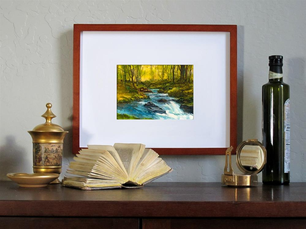 """Mountain Stream"" original fine art by Linda Henry"