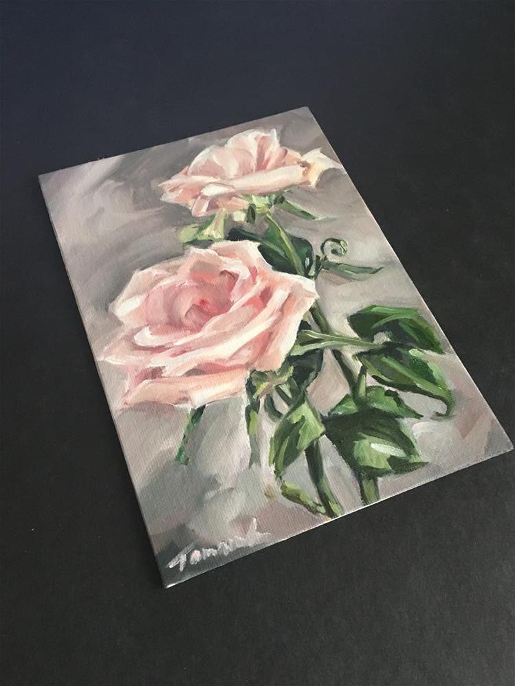 """Pale Petals (161)"" original fine art by Tamanda Elia"