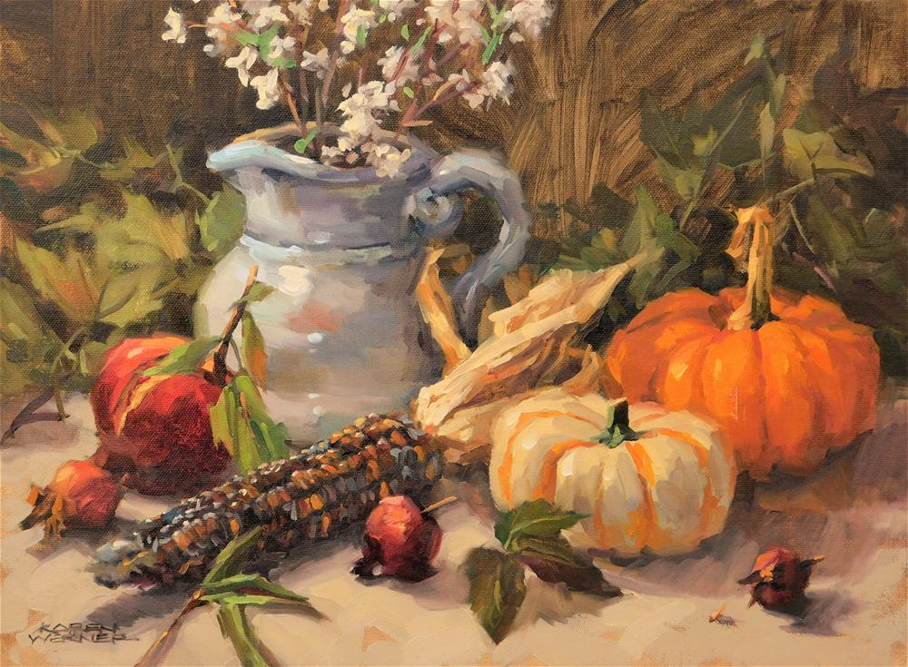 """""""Still Life With Corn"""" original fine art by Karen Werner"""