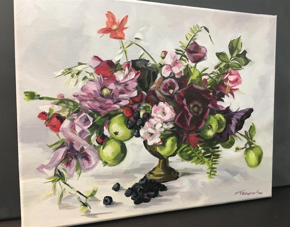 """Fruit and Flowers"" original fine art by Tamanda Elia"