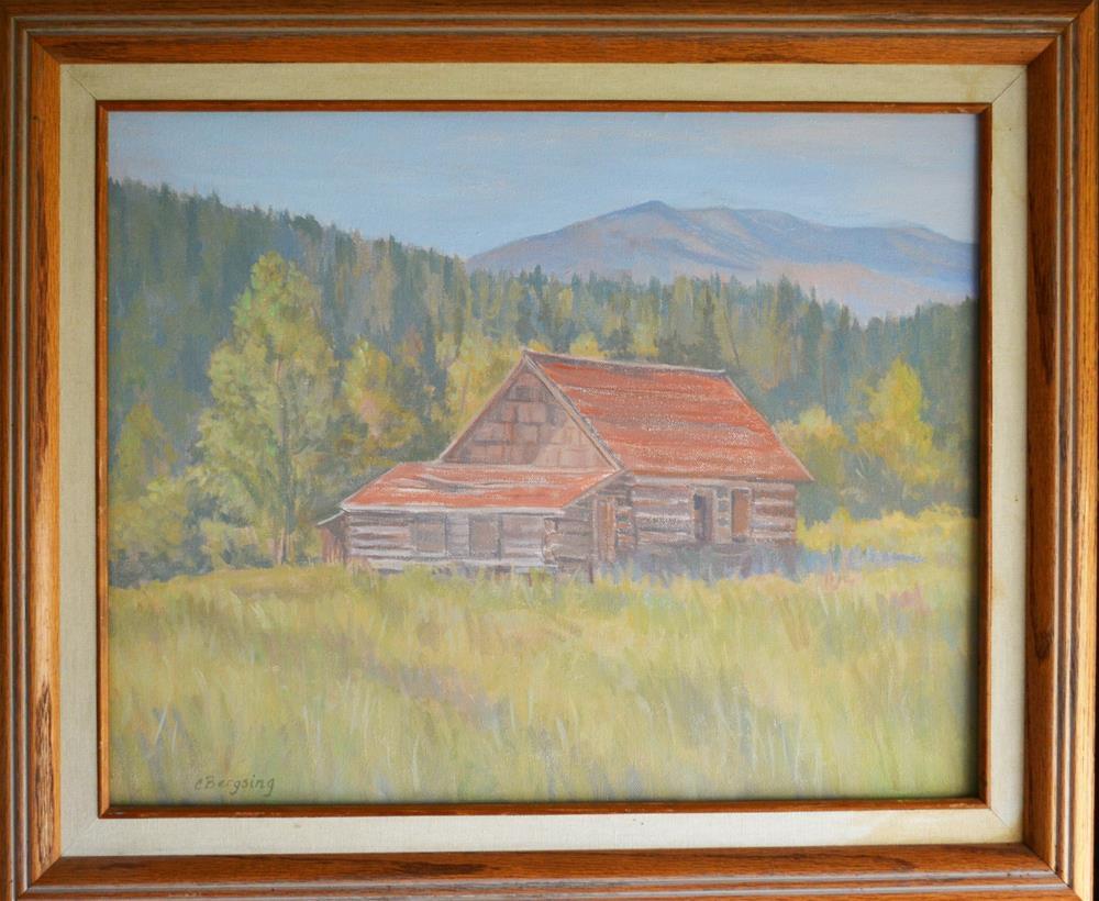 """Boulder River Cabin"" original fine art by Cathy Bergsing"