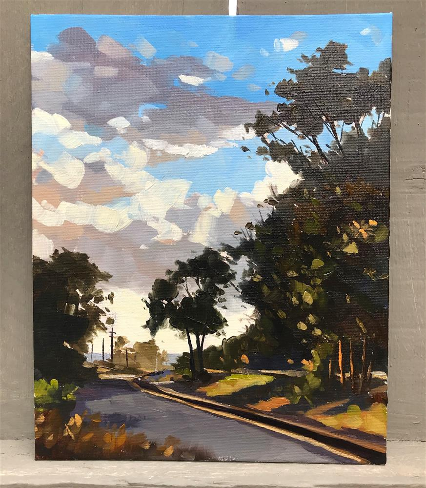 """Sunset in Carpinteria"" original fine art by Sharon Schock"